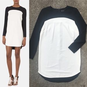 Topshop Colorblock Crepe Tunic Dress, Like New